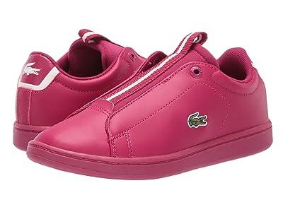 Lacoste Kids Carnaby Evo Easy 319 1 (Little Kid) (Dark Pink/Off-White) Kid