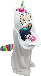 Lazy One Animal Blanket Hoodie for Kids, Hooded Blanket, Wearable Kids' Blanket, Soft, Cozy Fleece Hoodie (Unicorn Blanket)