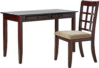 2-piece Writing Desk Set Chestnut