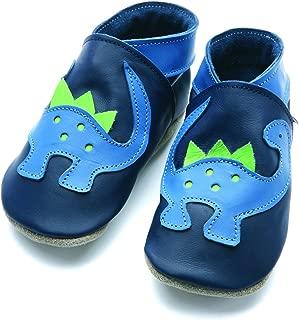 petit 0-6 mois EU 18 UK 2 Fire Engine bleu chaussures en cuir souple