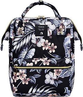 KALIDI Rucksack/Daypack Rucksack Mädchen Jungen & Kinder Damen Herren Schulrucksack mit laptopfach für 15 Zoll Notebookwasserdichte Schultasche Tusche Blume