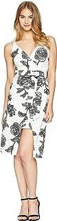 Bebe Floral Bodycon Dress for Women - White 10 US (70464B-WHT)
