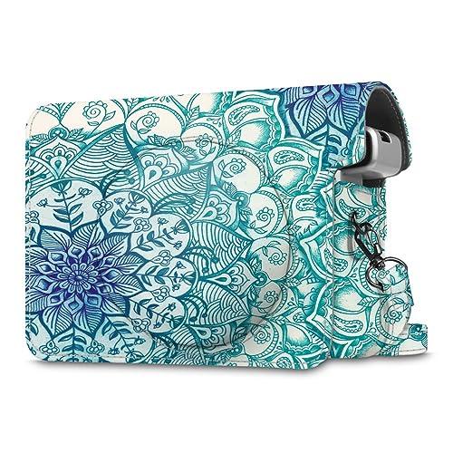 Fintie Housse Instax Wide 300 - Appareil Photo Argentique Instantané - Sac de Caméra en Cuir Voyage Caméra Cover Case Sac avec Bandoulière Amovible,Emerald