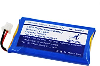 VINTRONS, Plantronics CS50, 65358-01, 64327-01, 64399-01 Battery For Plantronics CS50, CS351N, CS55, CS510, CS60, CS361N, C351N, HL10, Savi 410, Savi 420, Savi 710, Savi 720, Savi Office WH300, WH350,