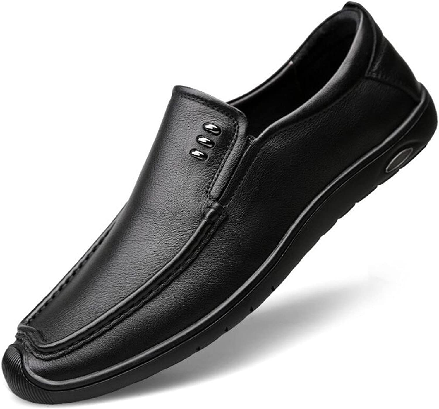 DANDANJIE Men's Casual Flat Loafers Fashion Slip On Driving shoes for Office Business Work Evening Party Casual