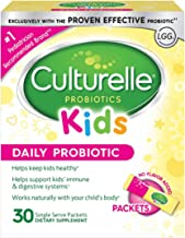 Culturelle Kids Packets Daily Probiotic Supplement   Helps Support a Healthy Immune & Digestive System*   #1 Pediatrician Recommended Brand†††   30 Single Packets   Package May Vary