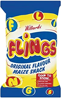 Willards Flings Maize Snack- Imported from South Africa, 150gm (5.29oz)