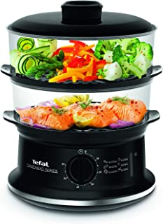Tefal VC140165 Steam Cooker with Timer, 6 L, 900 W - Black