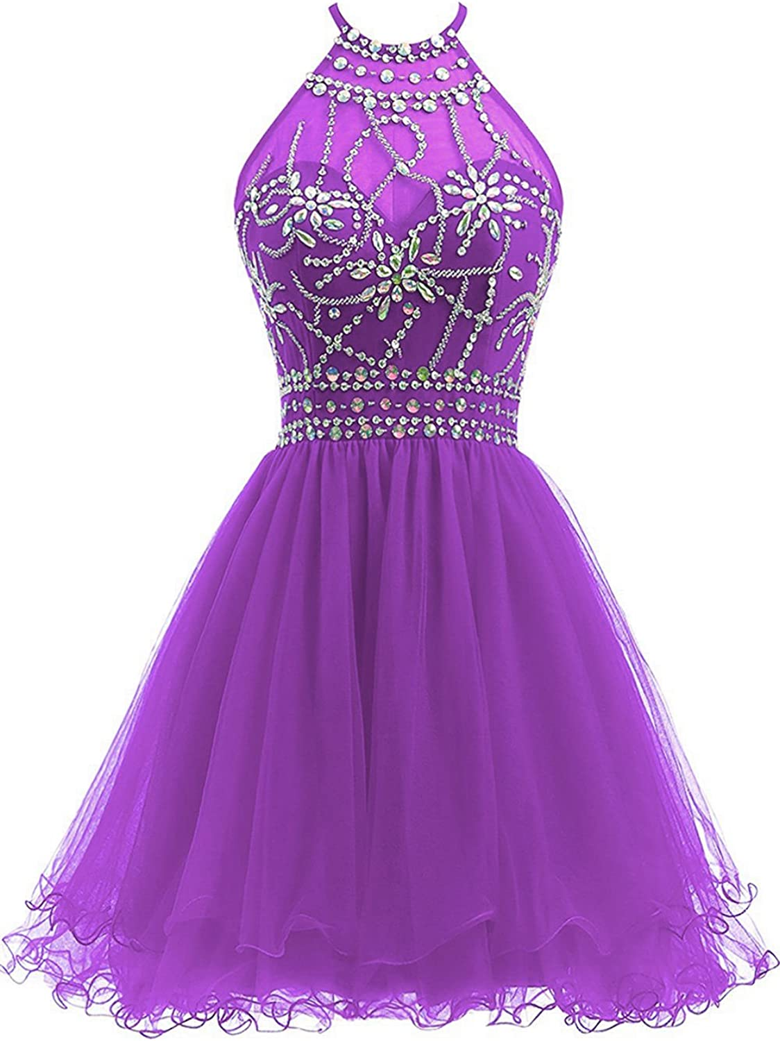QY Bride Sweet 16 Pageant Prom Dresses Bead Homecoming Gowns for Junior Short