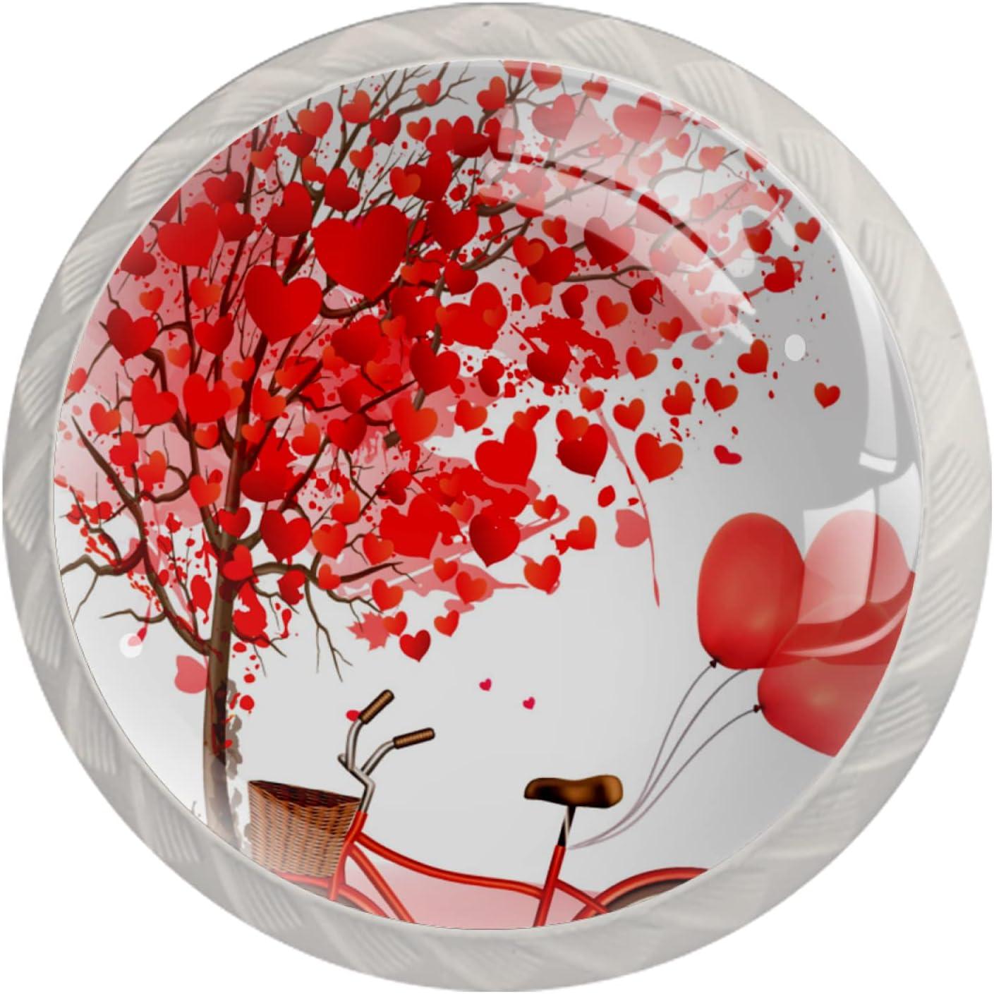 Round Cabinet Hardware Knob 4 Pack Day - mart Pink Valentines Cheap bargain Three