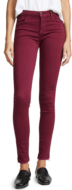 J Brand Womens 620 MidRise Super Skinny Jeans in Deep Plum