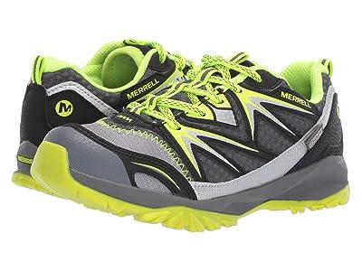 Merrell Kids Capra Bolt Low Lace Waterproof (Little Kid) (Grey/Citron) Boys Shoes