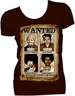 Well Behaved Women Rarely Make History Brown T Shirt and Earrings Set