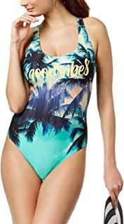 Calvin Klein Women's Printed Cross-Back One-Piece Swimsuit (Small)