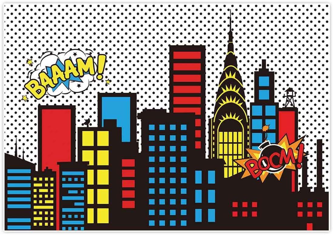 Allenjoy 8x6ft Superhero Themed Backdrops Skyline Ranking Many popular brands TOP18 Super City Bui