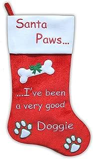"20.5"" Santa Paws Pet Dog Velvet Christmas Stocking"
