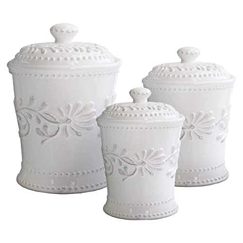 White Kitchen Canister Amazon Com
