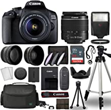 $359 » Canon EOS 2000D / Rebel T7 Digital SLR Camera Body w/Canon EF-S 18-55mm f/3.5-5.6 is STM Lens 3 Lens DSLR Kit Bundled with Complete Accessory Bundle + 64GB + Flash + Case & More - International Model