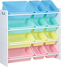 Class Kids' Toy Storage Organizer with 12 Plastic Bins, Medium- CL16JWTR-1001