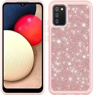 Lijc Samsung Galaxy A02S Fodral Samsung A02S 166,5 tum (Passar inte A20S) Skal [Skärm Skydd] Glitter Anti-Drop Stötsäker O...