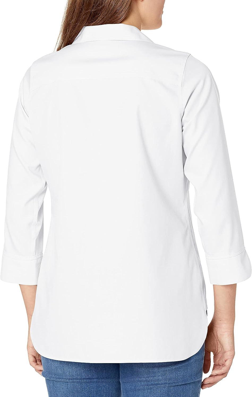 Foxcroft Women's Pandora Non-Iron Pinpoint 3/4 Sleeve Tunic