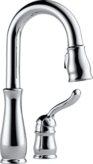 Delta Faucet Leland Single-Handle Bar-Prep Kitchen Sink Faucet with Pull Down Sprayer and Magnetic Docking Spray Head, Chr...