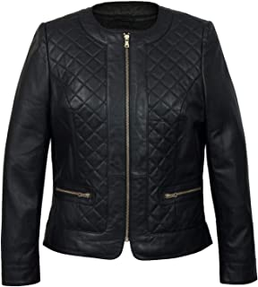 HIDEPARK Annie: Women's Black Quilted Leather Jacket