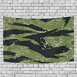 AUISS Vietnam Tiger Stripe Camo Tapestry Wall Hanging Bedding Wall Carpet Blanket Room Decor Rug Bedspread Kids Living Dorm Tablecloth Cover
