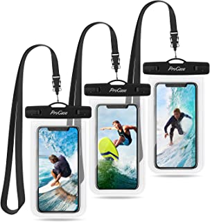 ProCase Universal Waterproof Pouch Cellphone Dry Bag Underwater Case for iPhone 12 Pro Max/11 Pro Max/Xs Max/XR/8/SE 2020,...