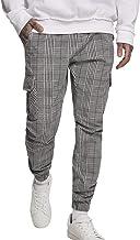 Urban Classics heren Broek AOP Glencheck Cargo Jog Pants