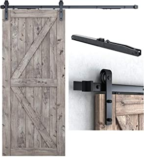 """6.6FT Soft Close Heavy Duty Sturdy Sliding Barn Door Hardware Kit - Smoothly and Quietly - Simple and Easy to Install -Includes Step-By-Step Installation Instruction -Fit 36''-40"""" Door Panel (J Shape)"""