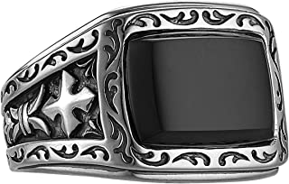 Black Onyx Stone Gilbert Ring In Sterling Silver By Scott Kay