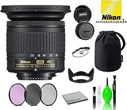 $295 » Nikon AF-P DX NIKKOR 10-20mm f/4.5-5.6G VR Lens USA (20067) with Bundle Package Deal Kit Includes: 3PC Filter Kit + Deluxe Lens Cleaning Kit + More