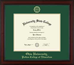 Ohio University Patton College of Education - Officially Licensed - PhD - Gold Embossed Diploma Frame - Diploma Size 15