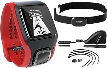 TomTom Multi-Sport Cardio - Reloj, color Negro / Rojo, Talla única