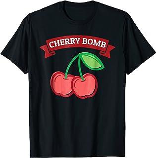 Vintage Style Shirts for Women, Cherry Bomb Tshirt