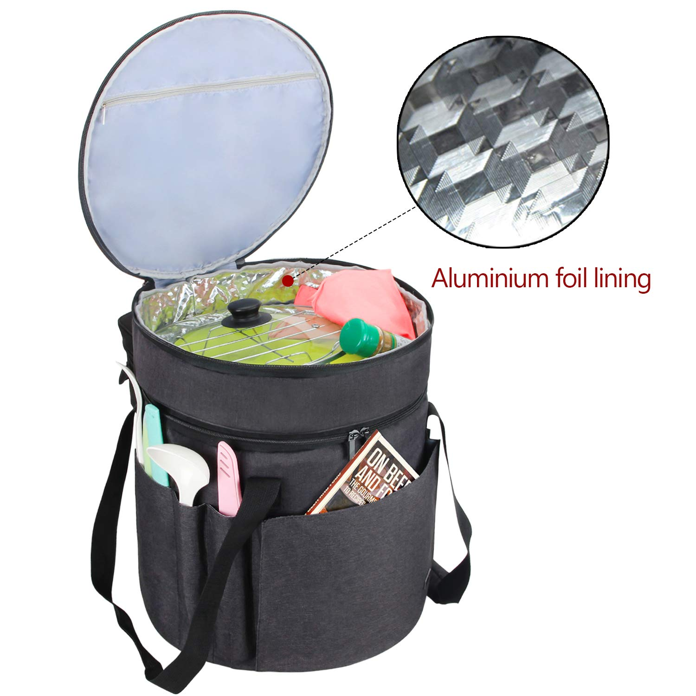 Luxja Bolsa de Transporte para Ollas GM Modelo D, Bolsa de Almacenamiento para Instant Pot IP - DUO60, Organizador de 6 litros Olla de Presión Eléctrica y Accesorios, Negro: Amazon.es: Hogar