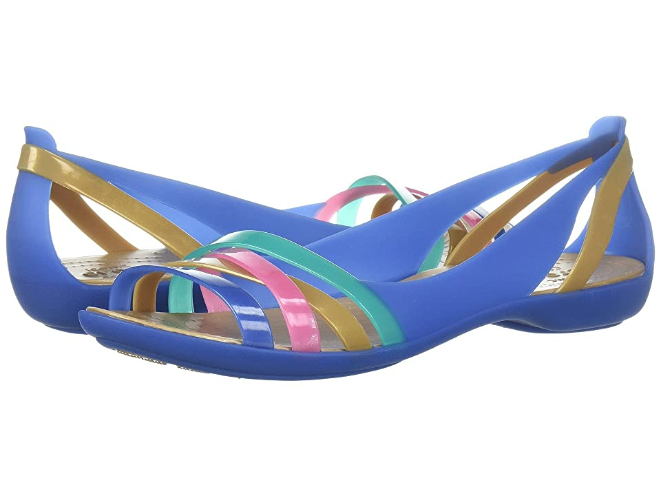 Crocs Isabella Huarache 2 Flat (Blue Jean/Gold) Women