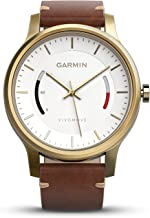 Garmin vívomove Premium - Gold-Tone Steel with Leather Band