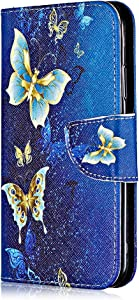 Huawei Honor Case  Bear Village  Painted Pattern Premium Leather Magnetic Wallet Case Cover with Credit Card Slot for Huawei Honor   6 Butterfly