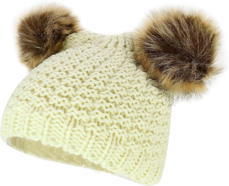 Trendy Apparel Shop Kid's Youth Size pom Ears Fur Detroit Mall Crochet Girls Max 54% OFF