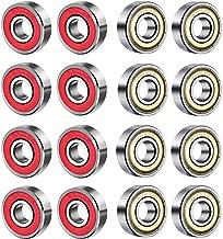 BESTZY 20 piezas Rodamientos rigidos a bolas Mini Bearing 608ZZ 608RS Scooter Scooter Monopatín en roll-rodamientos de bolas Rodamientos