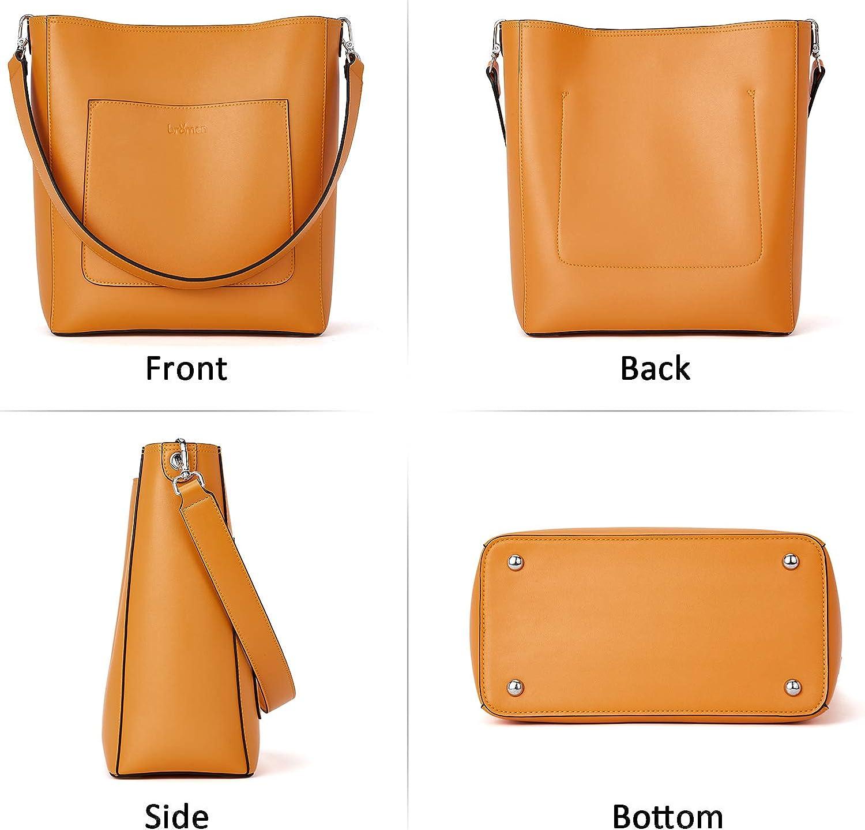 BROMEN Hobo Bags for Women Leather Handbags Designer Shoulder Bucket Crossbody Purse