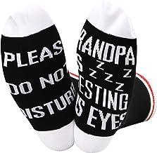 Opa Sokken Grootvader PAPA Gift Vaderdag Gift Gelieve Niet storen Opa rust zijn ogen sokken