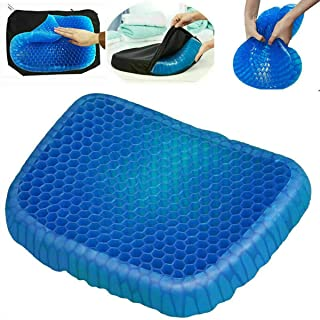 Gel Office Chair Cushion, Seat Cushion Breathable Design for Car, Office, Wheelchair, Truck, Gel Seat Pad Cushion