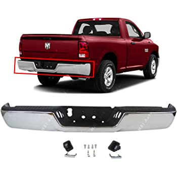 New CH1103123 Black Steel Rear Step Bumper Assembly For Ram 1500 2011-2018