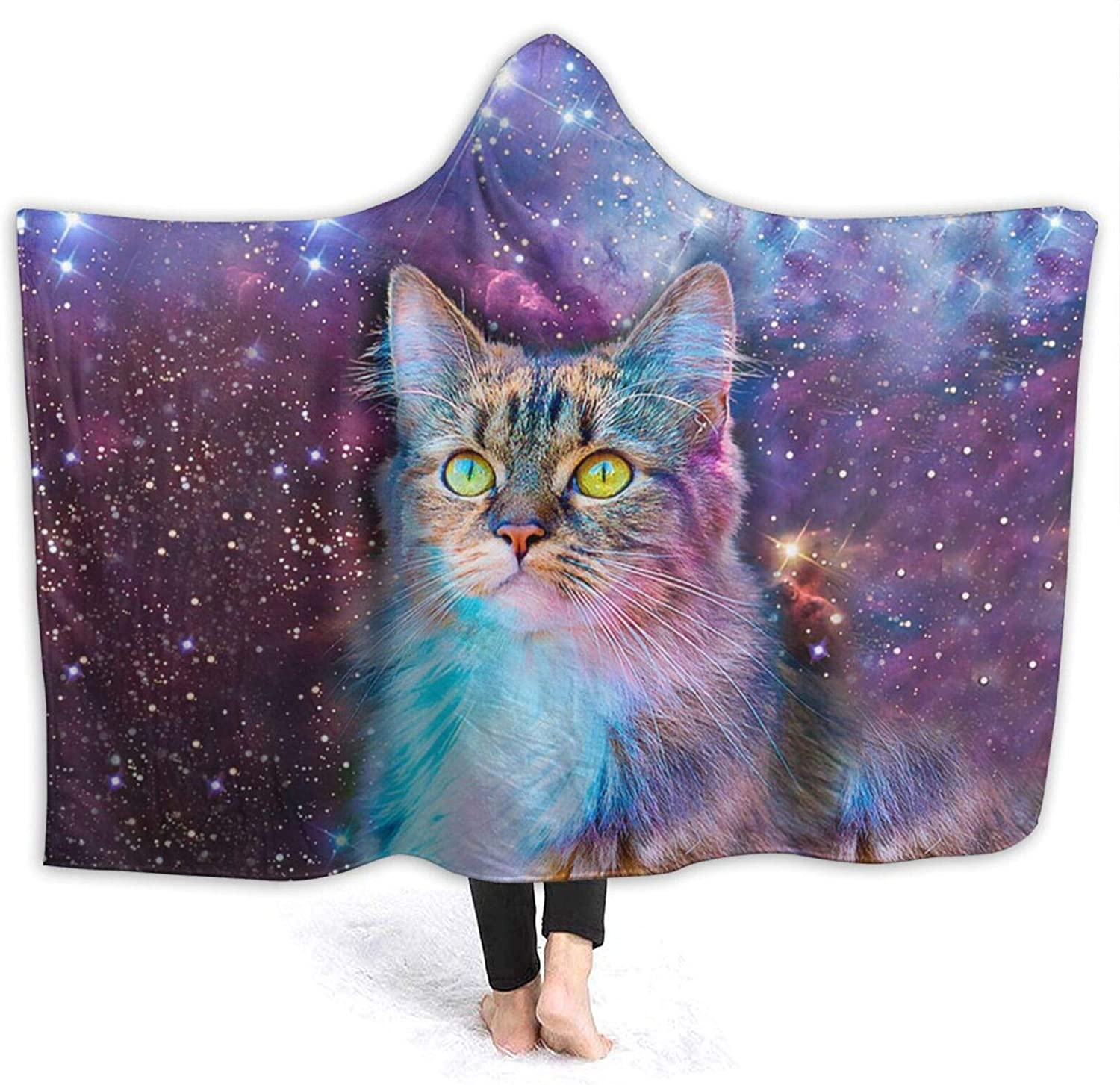 Beautiful Cat Starry Sky Max 56% OFF Air Blanket Conditioning Hooded Max 61% OFF