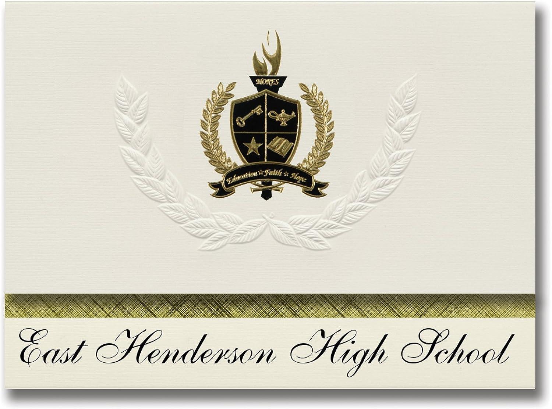 Signature Ankündigungen East Henderson High School (East Flat Flat Flat Rock, NC) Graduation Ankündigungen, Presidential Stil, Elite Paket 25 Stück mit Gold & Schwarz Metallic Folie Dichtung B078VCCB93   | Hohe Qualität  aa6e6b
