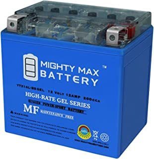 Mighty Max Battery YTX14L-BS Gel Battery Replacement for Deka East Penn ETX14L Brand Product