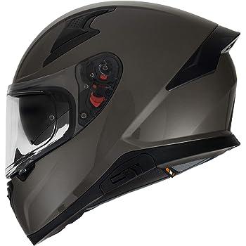 HAX- Casco Cerrado para Motocicleta, Serie Impulse, Modelo Titanio, Extra Extra Grande